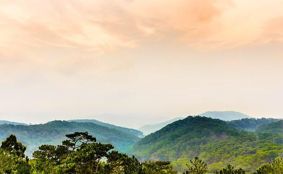Forest, Mountain, Sky, Before Rain, Nature, Cloudy