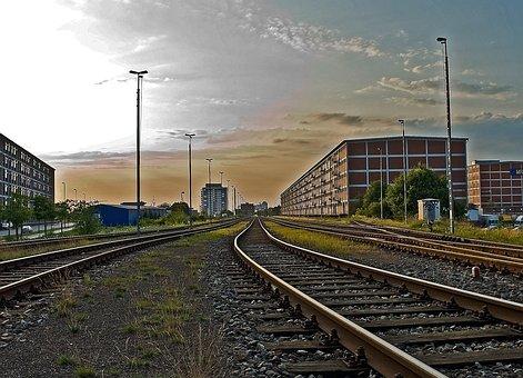 Bremen, Overseas City, Memory, Gleise, Railway