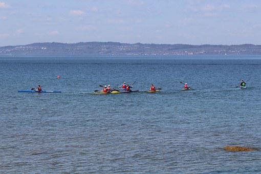 Sport, Canoeists, Canoeist, Canoeing School, Beautiful
