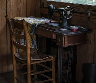 Colonial, Sewing, Old, Antique, Sewing-machine