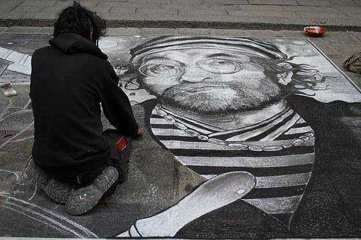 Street Art, Art, Bologna, Dallia Lucio, Diesgno, Chalk