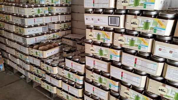 Warehouse, Pallet, Food, Product, Box, Storage, Fruit