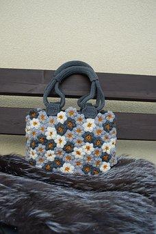 Handbag, Flower, Motif, Fashion, Style, Female, Bag