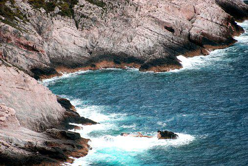 Wave, Rocks, Holidays, Summer, Island, Zakynthos
