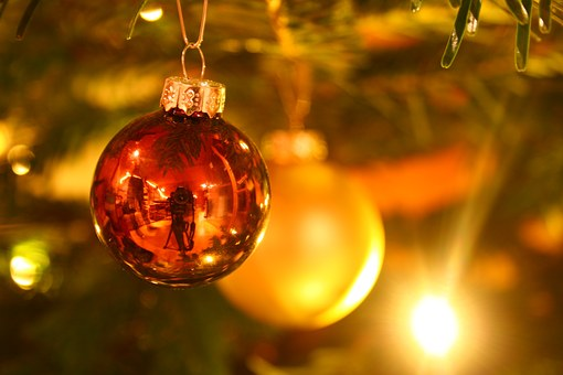 Christmas, Christmas Tree, Background, Lichterkette