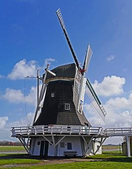 Windmill, Historically, Monument, Restored, Can Be Run