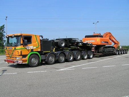 Scania, Low Loader, Five Axes, Narrow Bed, Hitachi