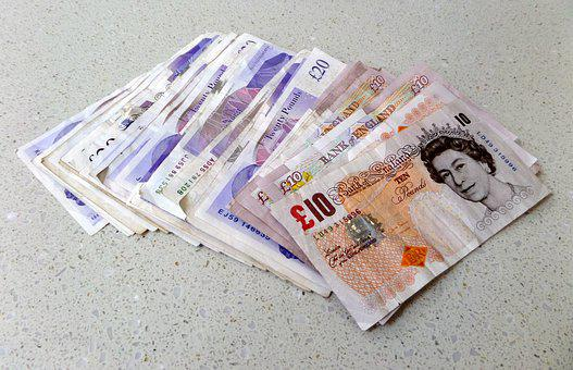 Pounds, Sterling, Notes, Cash, Money, Currency