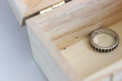 Ring, Treasure, Box, Chest, Jewelry, Silver, Precious