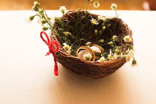 Rings, Wedding, Nest, Love, Marriage, Ceremony