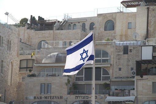 Israel, Jerusalem, Flag, Star Of David, Holy City
