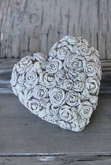 Heart, Stone Heart, Rosenstein Heart, Rose Motif, Love