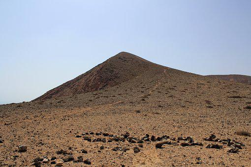 Volcano, Fuerteventura, Canary, Spain, Landscape