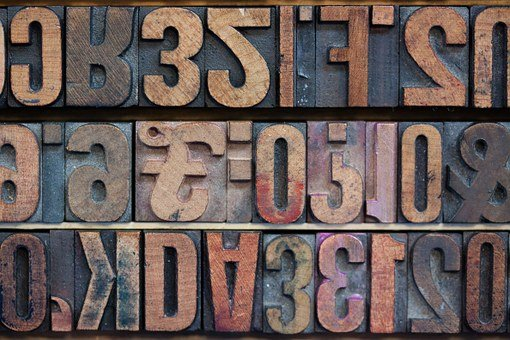 Letters, Wooden Alphabet Letters, Pound, English
