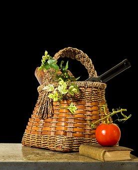 Still Life With Basket, Still Life, Basket, Tomato