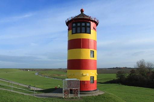 Lighthouse, Pilsum, East Frisia, Landmark
