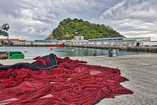 Fishing Nets, Fishnet, Netting, Nets, Fishing, Wharf