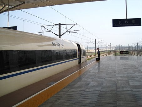 High Speed Train, Changsha, Train, Railway Station
