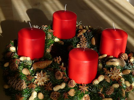 Advent Wreath, Advent, Candles, Christmas Jewelry
