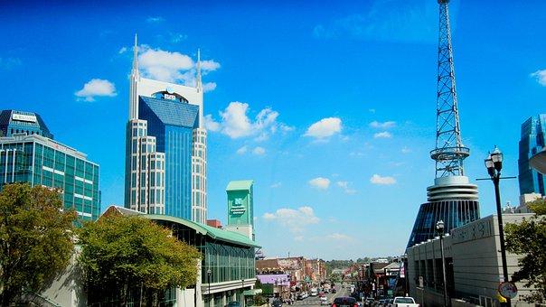 Nashville, Tennessee, Usa, City, America, Skyline