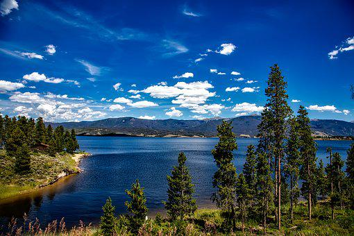 Lake Granby, Colorado, Sky, Clouds, Landscape, Scenic