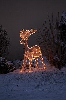 Reindeer, Christmas, Santa, Winter, Decoration