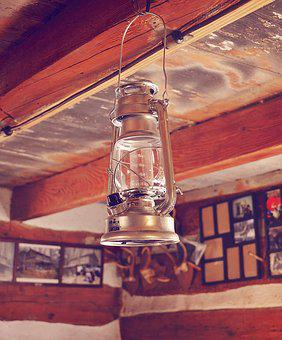 Lamp, Lantern, Antique, Reflection, Glass, Retro