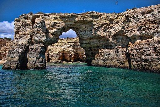Portugal, Sea, Ocean, Coast, Water, Travel, Beach, Cave