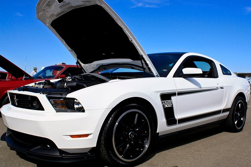 Car, Auto, Ford, Mustang, Hood, Open, Vehicle