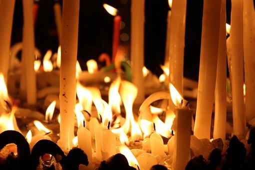 Candles, Xmas, Patiala, Punjab, India
