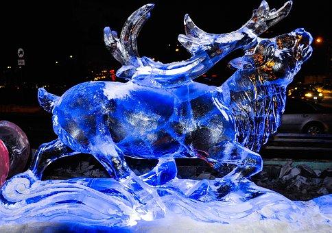 Christmas, Reindeer, Winter, Xmas, Frozen, Decoration