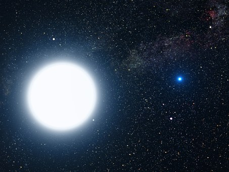 Star, Sun, White Dwarf, Star System, Binary, Sirius A