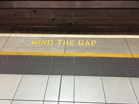 Mind The Gap, Underground, London, Train, Subway, Mind