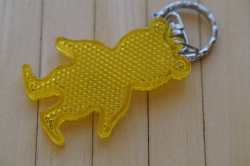 Keychain, Reflector, Teddy Bear, Reflect, Cat's Eye