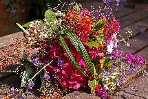 Bouquet, Colorful, Flowers, Color, Strauss