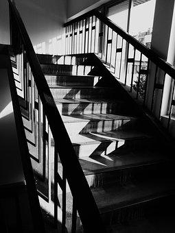 Light And Shadow, Light And Shade, Stairs