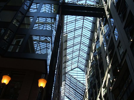 Canada, Canopy, Glass, Light, Stained Glass