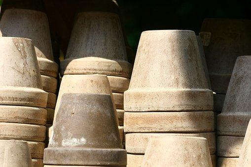Flower Pots, Clay Pots, Gardening, Vintage, Old