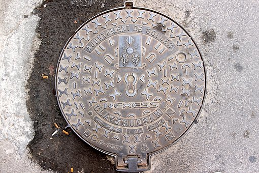 Manhole Covers, Cast Iron, Shaft, Sewage System
