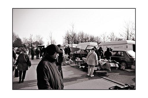 Flea Market, Market, Visitors, Stands, Stand, Antiques