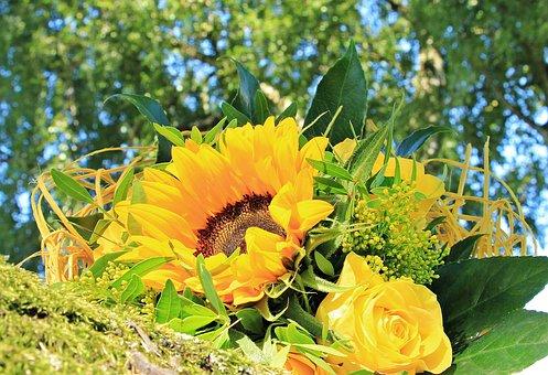 Bouquet, Bouquet Flowers, Roses, Flowers, Strauss