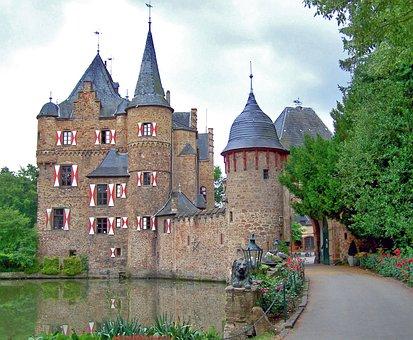 Castle, Moated Castle, Wasserschloss, Moat