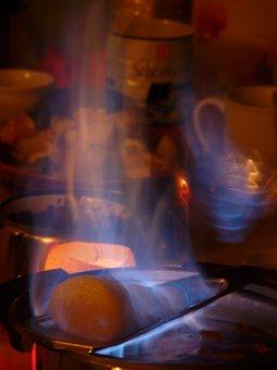 Feuerzangenbowle, Fire, Flame, Sugarloaf, Rum, Burn