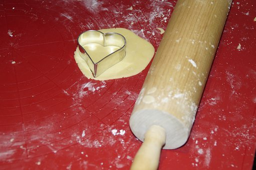 Bake, Christmas Baking, Heart, Biscuit, Dough, Cut Out