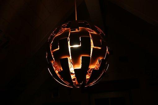 Lamp, Ikea, Light, Modern, Design, Room, New, Copper