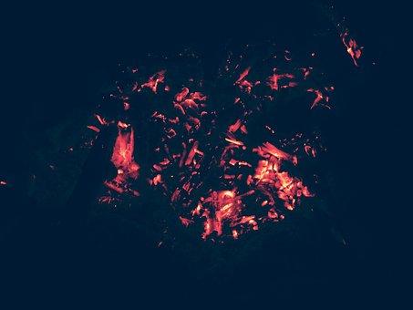 Coals, Bonfire, Fire, Firewood, Black, Campfire, Fever