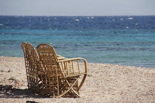 By The Sea, Relax, Sit, Seating Furniture, Stock Photo