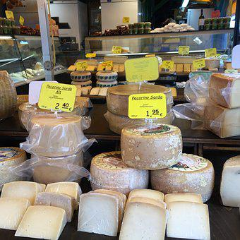 Cheese, Market, Natural Product, Cheese Stand