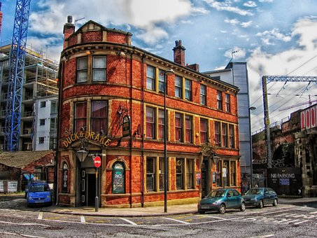 Leeds, England, Uk, Duck And Drake, Building, Par, Pub