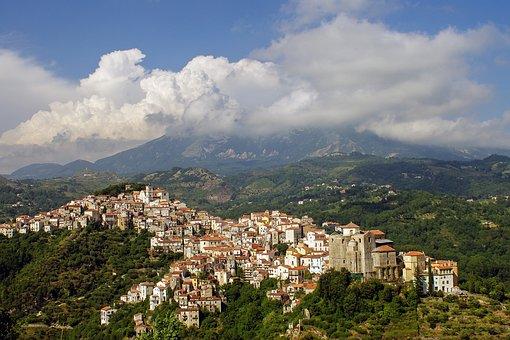 Landscape, Rivello, Basilicata, Italy, Borgo, Village